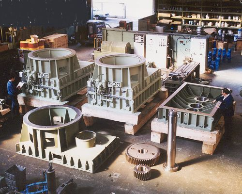 Hydro Gearboxes in build - Shackleton Engineering